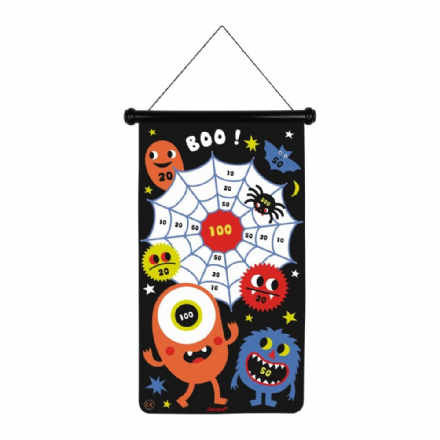 Janod Double-sided Magnetic Darts Game, Monsters theme